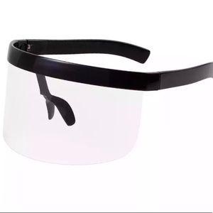 Accessories - Clear Oversize Shield Visor Mask Sunglasses
